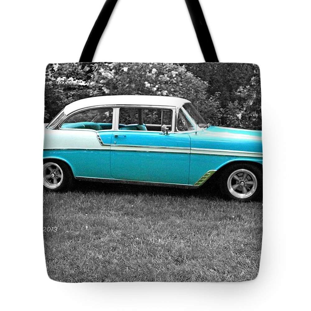 Car Vintage Classic Photograph Time Blue Bw black & White Collect Collection Auto Automobile Tote Bag featuring the photograph Vintage. by Stevie Ellis