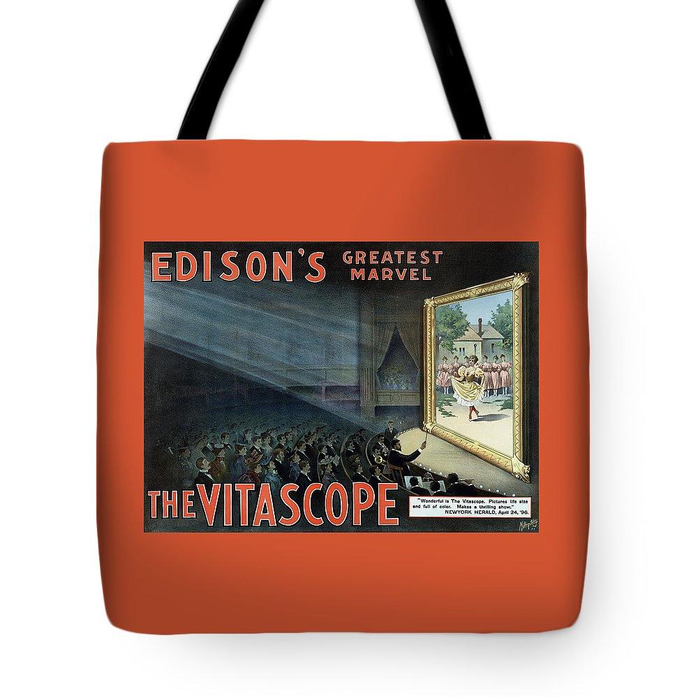 Vintage Thomas Edison Print - The Vitascope Tote Bag