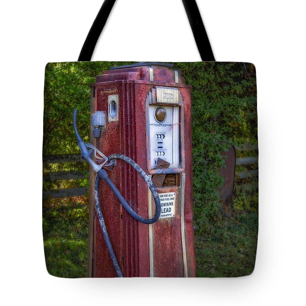 Tokheim Tote Bag featuring the photograph Vintage Tokheim Gas Pump by Susan Candelario