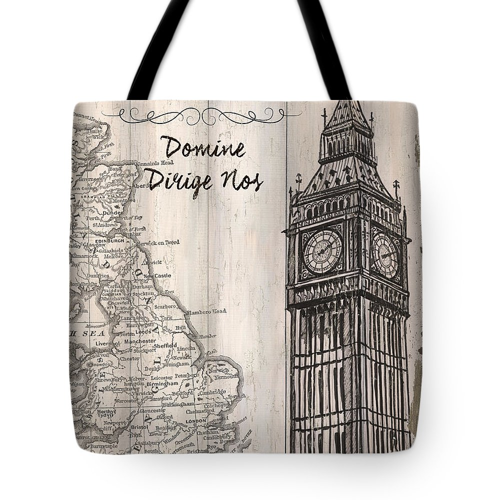 London Tote Bag featuring the painting Vintage Travel Poster London by Debbie DeWitt