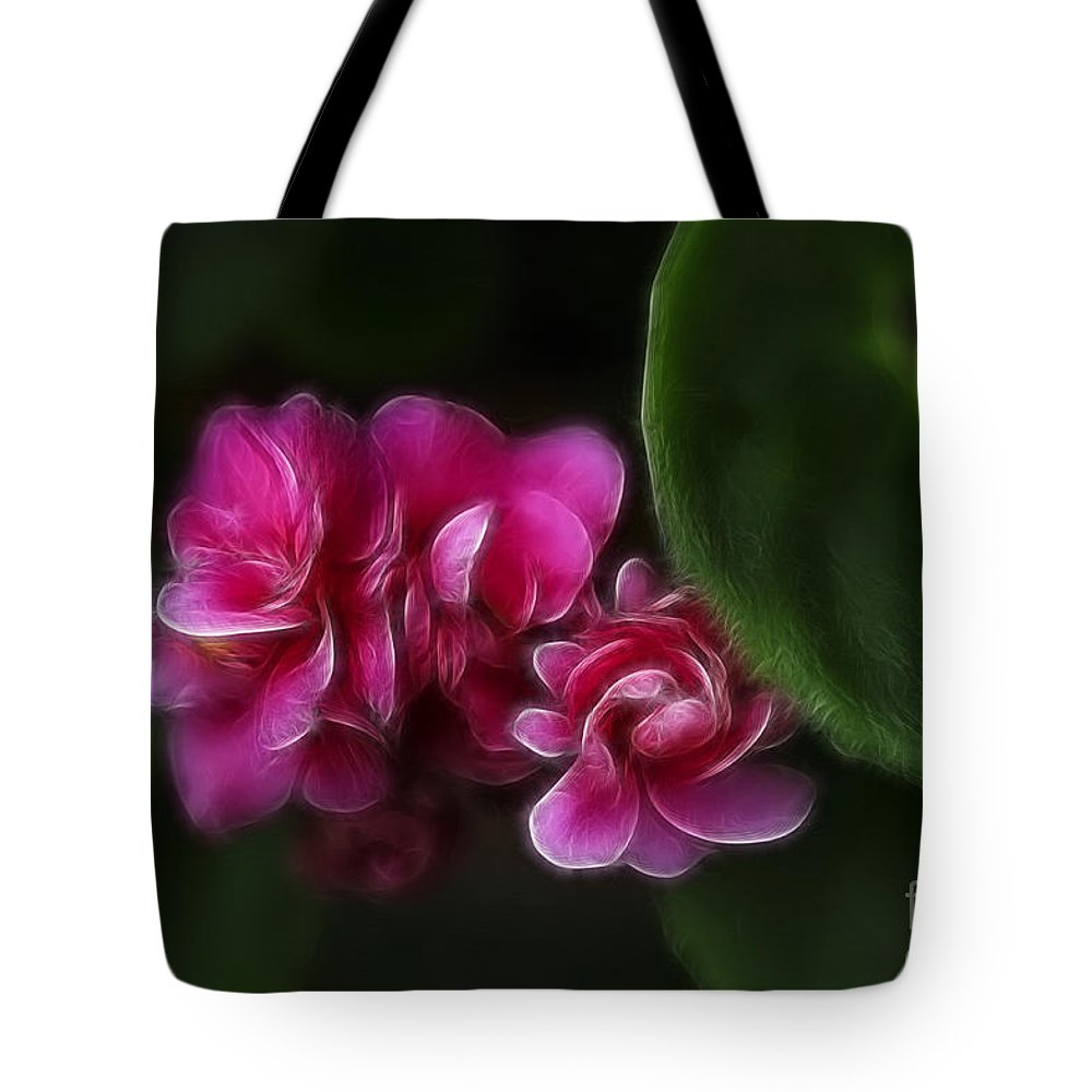 Flowers Tote Bag featuring the photograph Violets Of Pink by Deborah Benoit