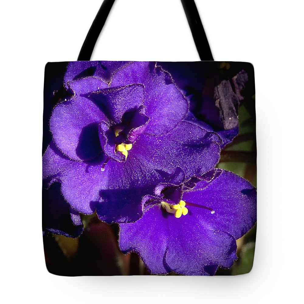 Flowers Tote Bag featuring the photograph Violets by Phyllis Denton