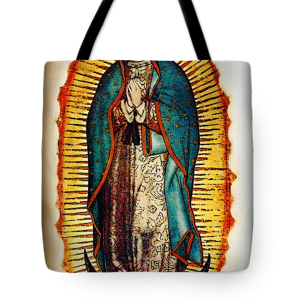 Virgin Mary Tote Bag featuring the photograph Virgen De Guadalupe by Bibi Rojas