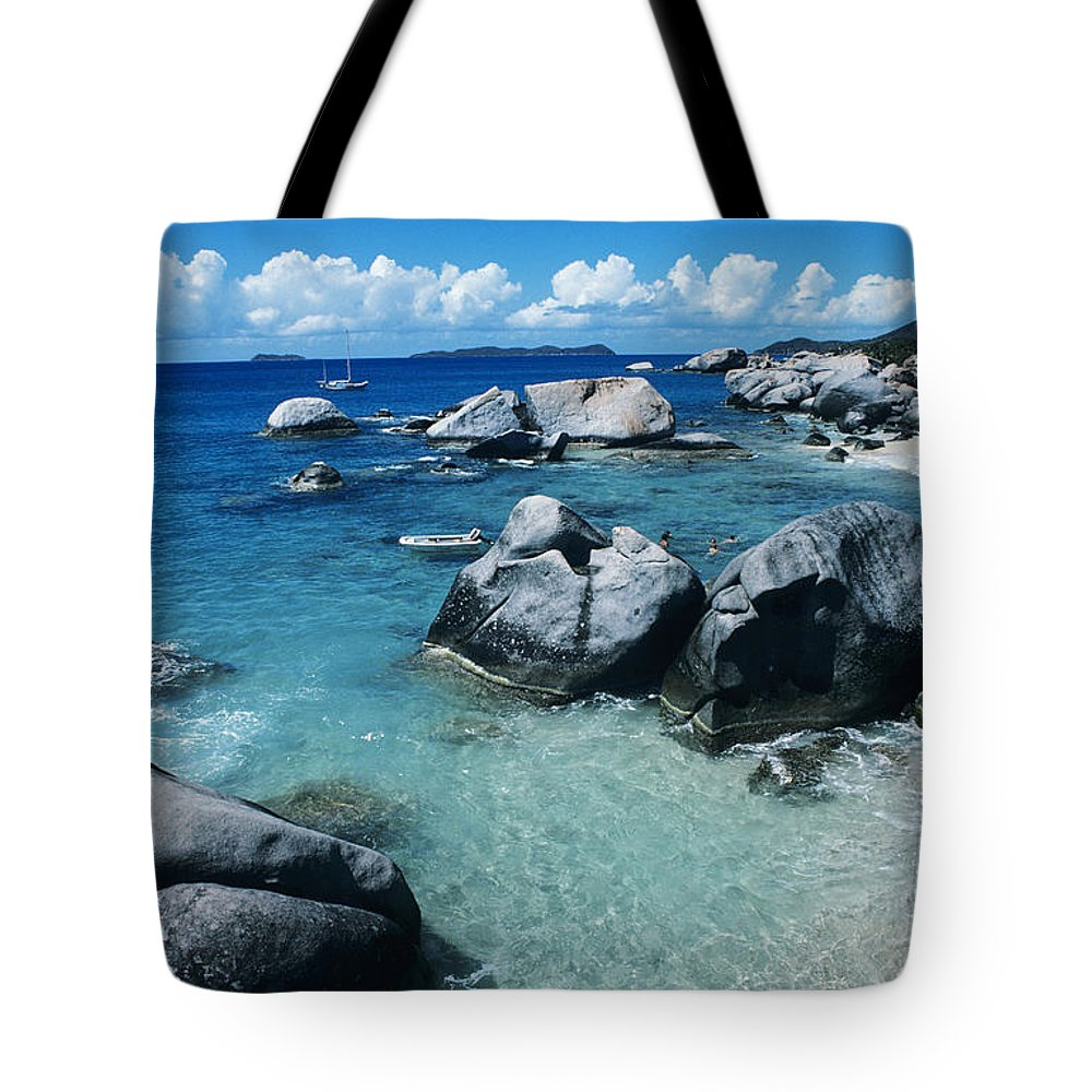 Beach Tote Bag featuring the photograph Virgin Gorda Beach by Larry Dale Gordon - Printscapes
