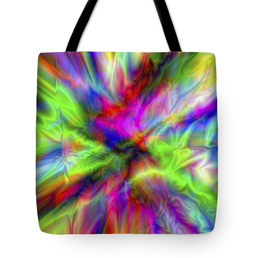 Colors Tote Bag featuring the digital art Vision 1 by Jacques Raffin