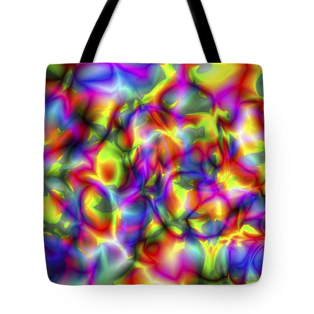 Crazy Tote Bag featuring the digital art Vision 2 by Jacques Raffin