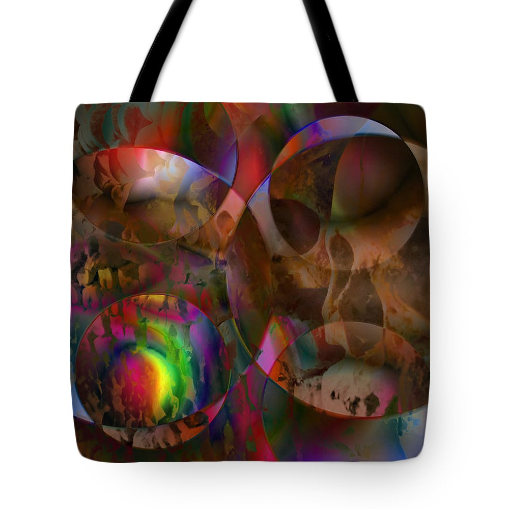 Colors Tote Bag featuring the digital art Vision 24 by Jacques Raffin