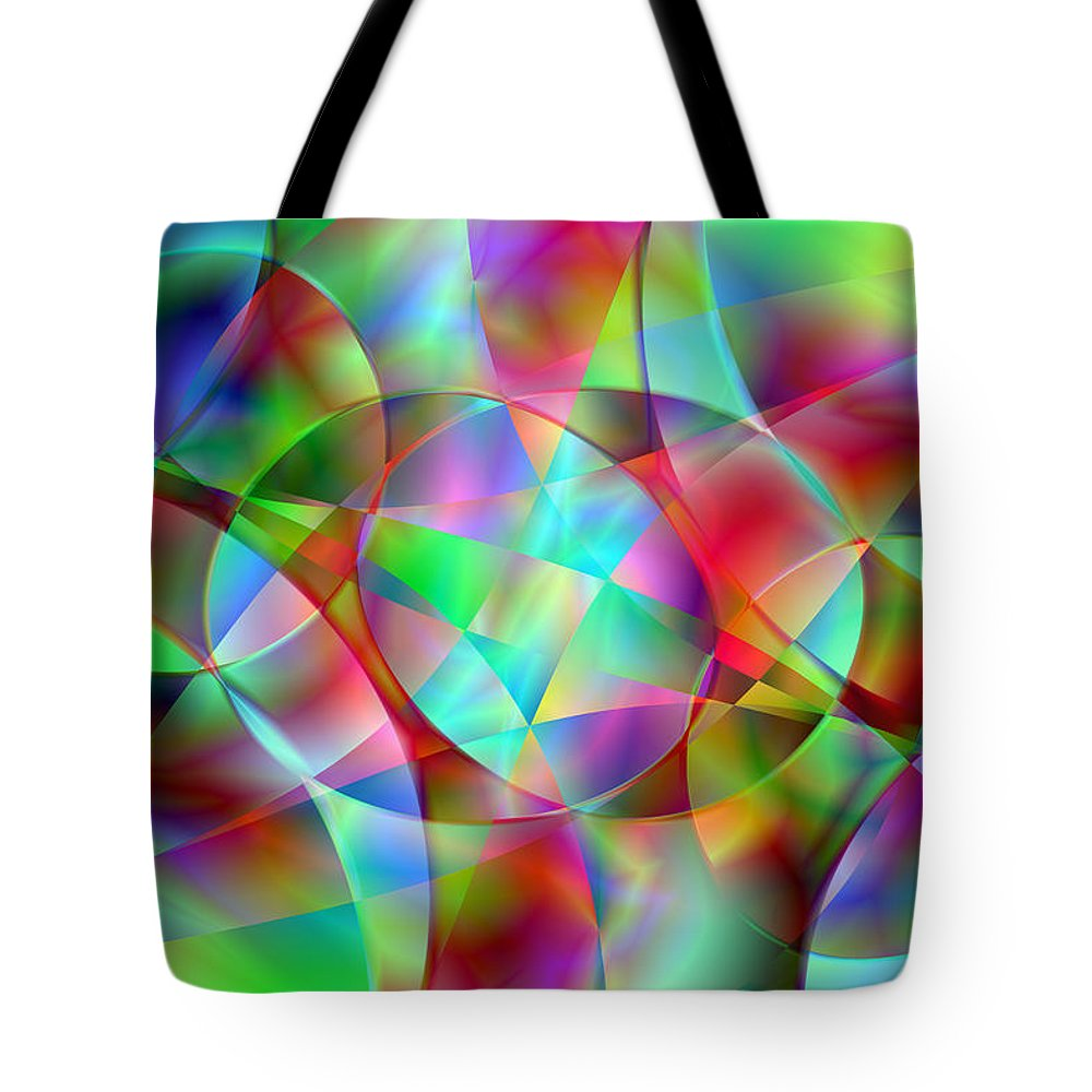Colors Tote Bag featuring the digital art Vision 27 by Jacques Raffin