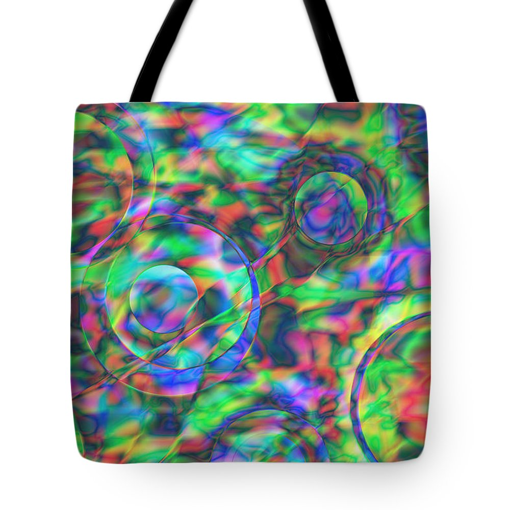Colors Tote Bag featuring the digital art Vision 28 by Jacques Raffin