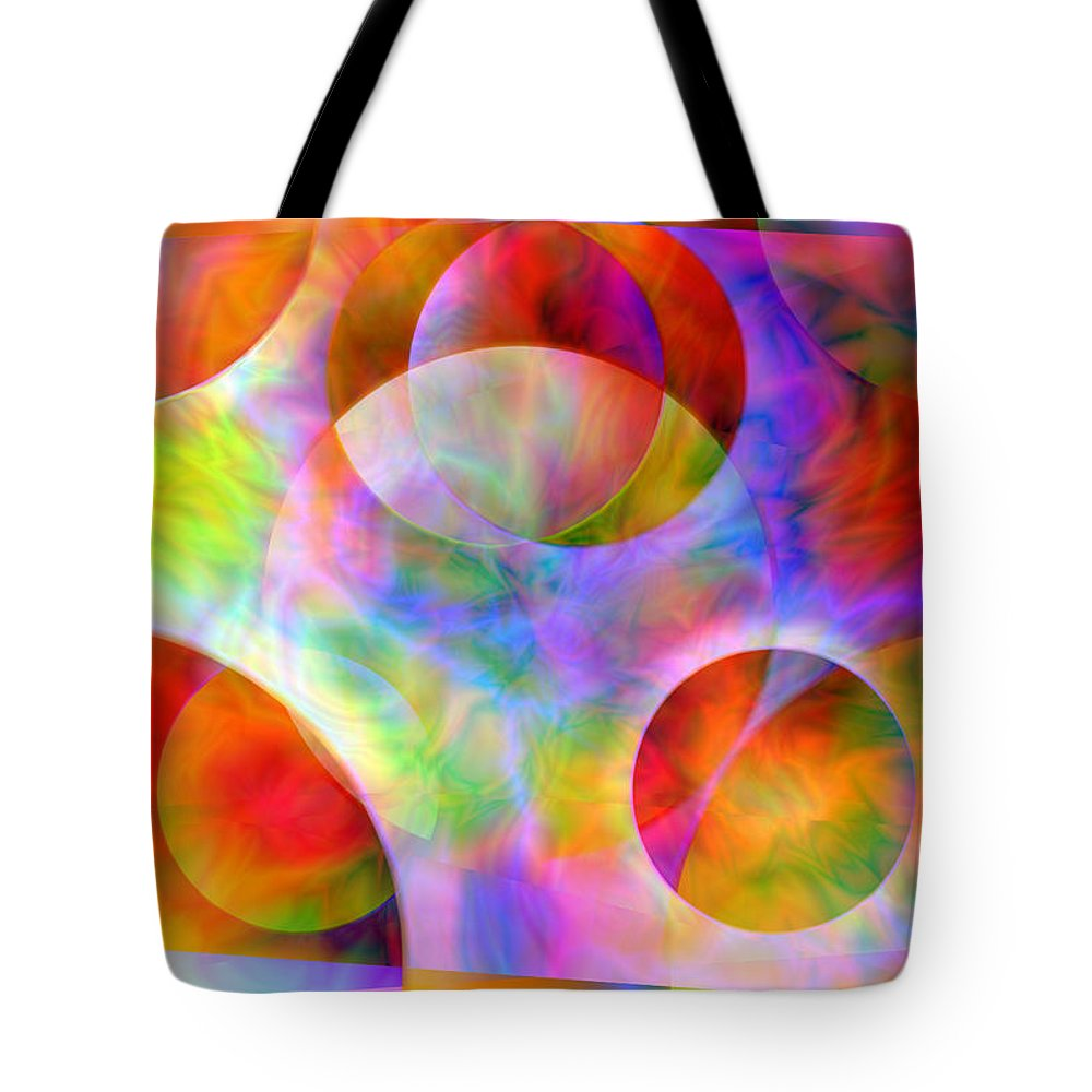 Colors Tote Bag featuring the digital art Vision 29 by Jacques Raffin