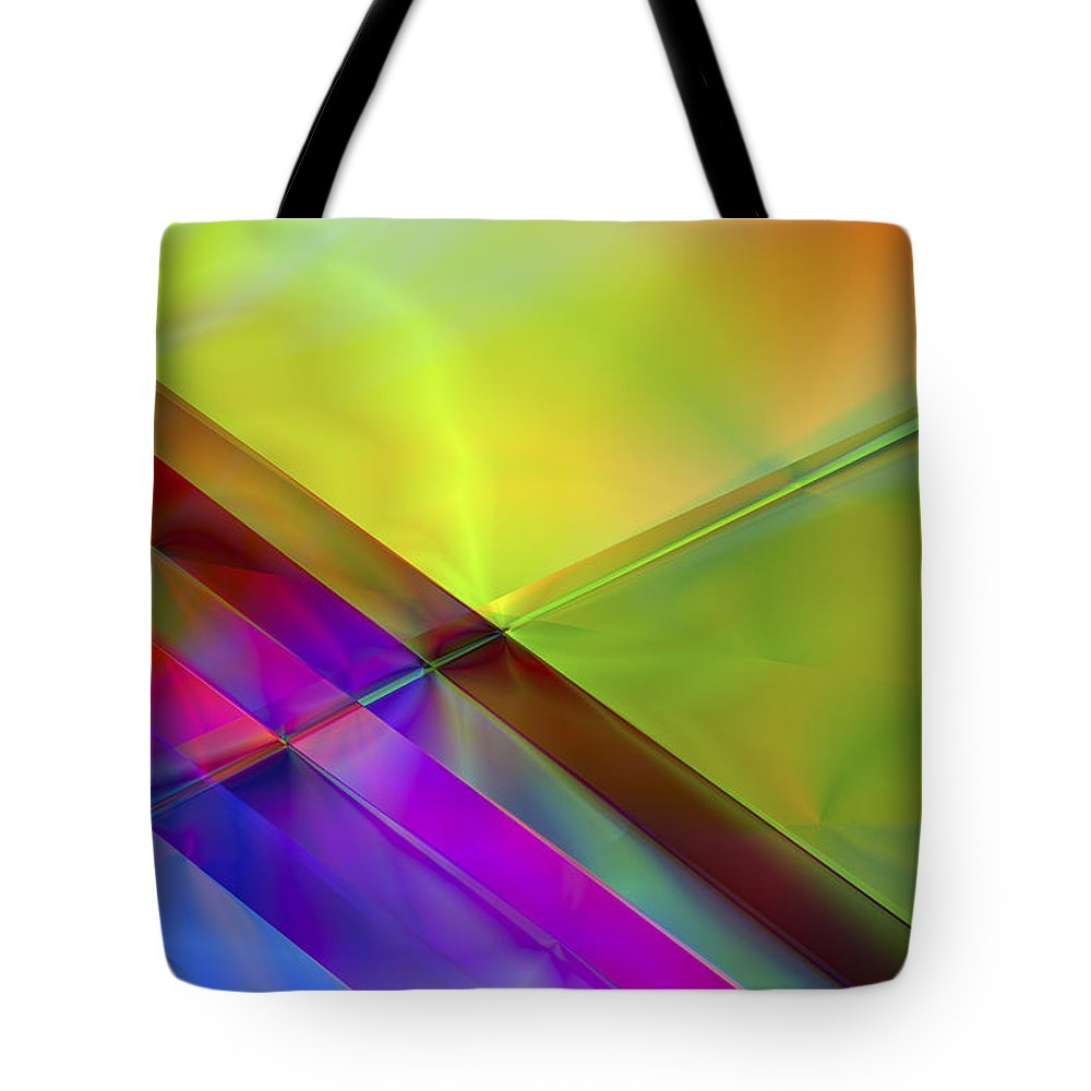 Colors Tote Bag featuring the digital art Vision 3 by Jacques Raffin