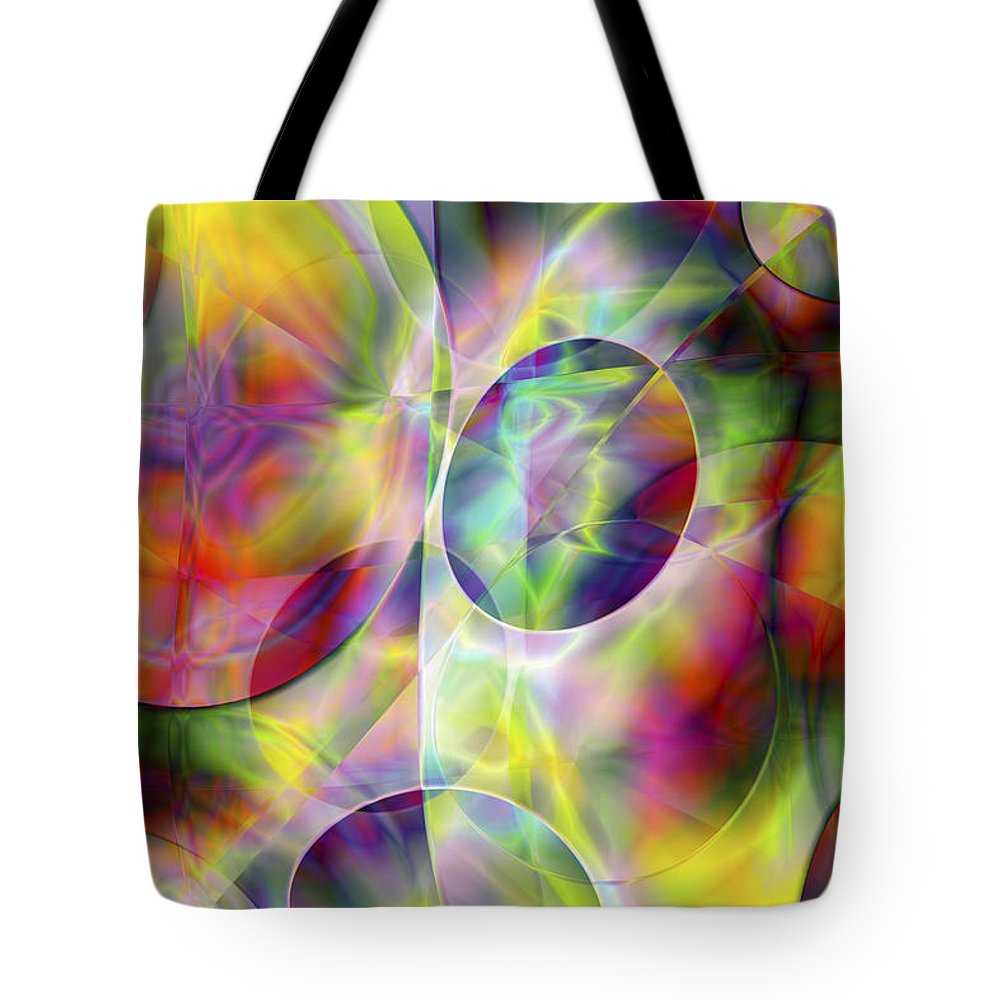 Colors Tote Bag featuring the digital art Vision 36 by Jacques Raffin
