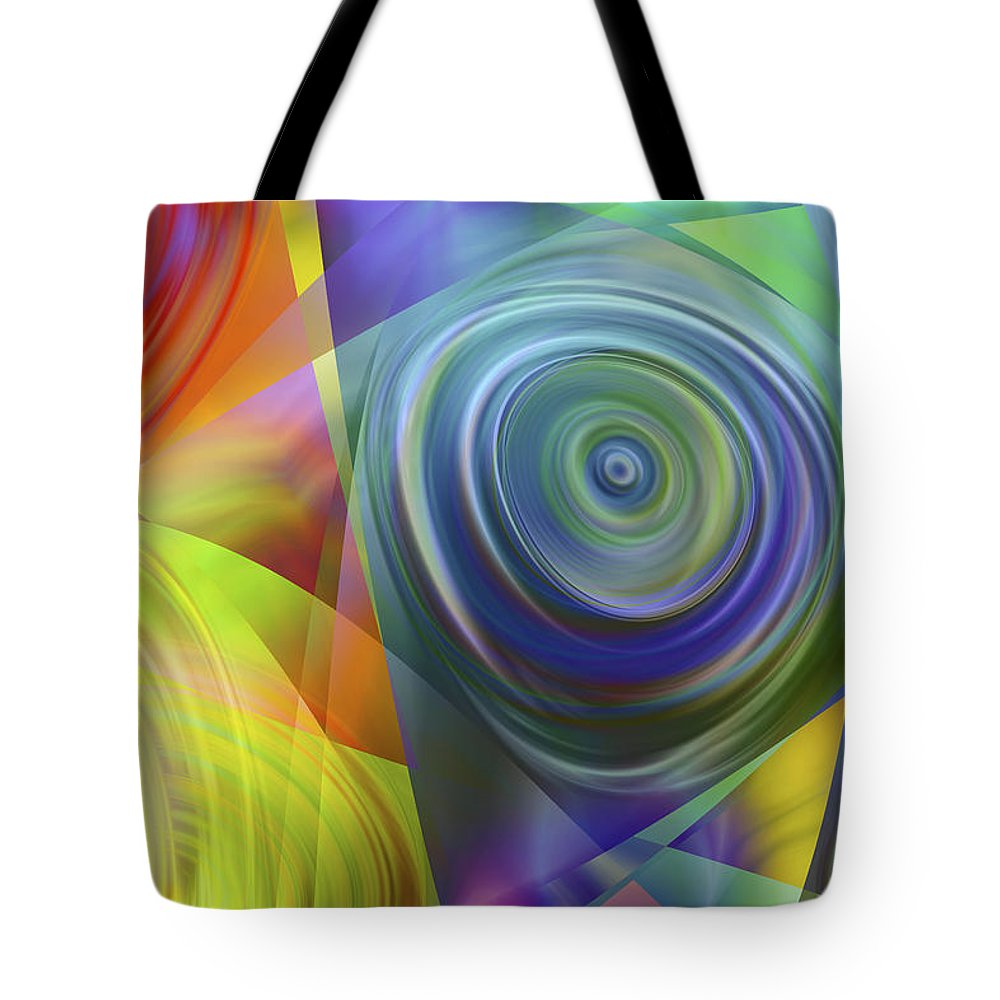 Colors Tote Bag featuring the digital art Vision 39 by Jacques Raffin