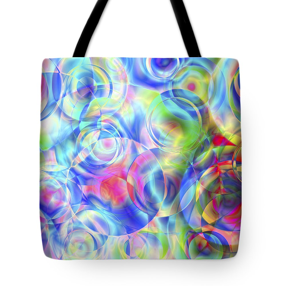 Colors Tote Bag featuring the digital art Vision 4 by Jacques Raffin