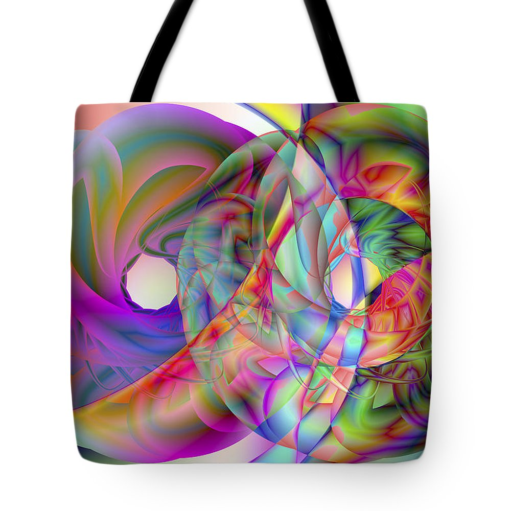Crazy Tote Bag featuring the digital art Vision 41 by Jacques Raffin