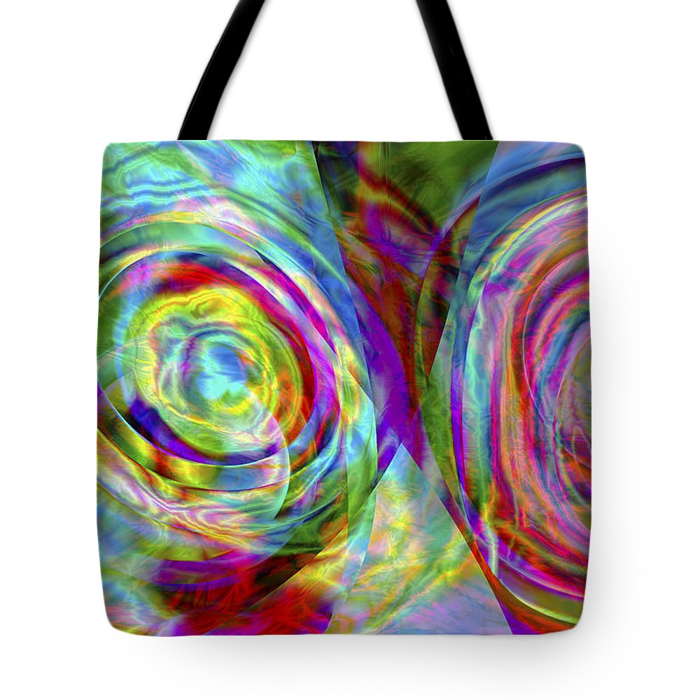 Crazy Tote Bag featuring the digital art Vision 44 by Jacques Raffin
