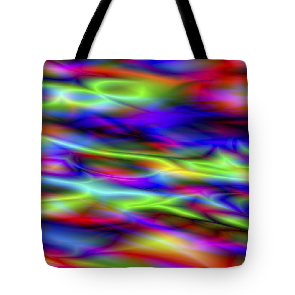 Colors Tote Bag featuring the digital art Vision 5 by Jacques Raffin