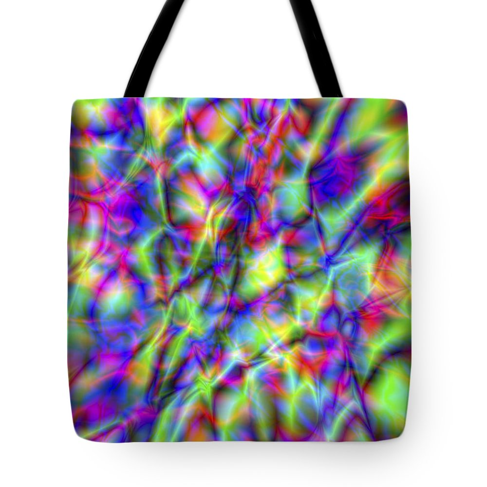 Crazy Tote Bag featuring the digital art Vision 6 by Jacques Raffin