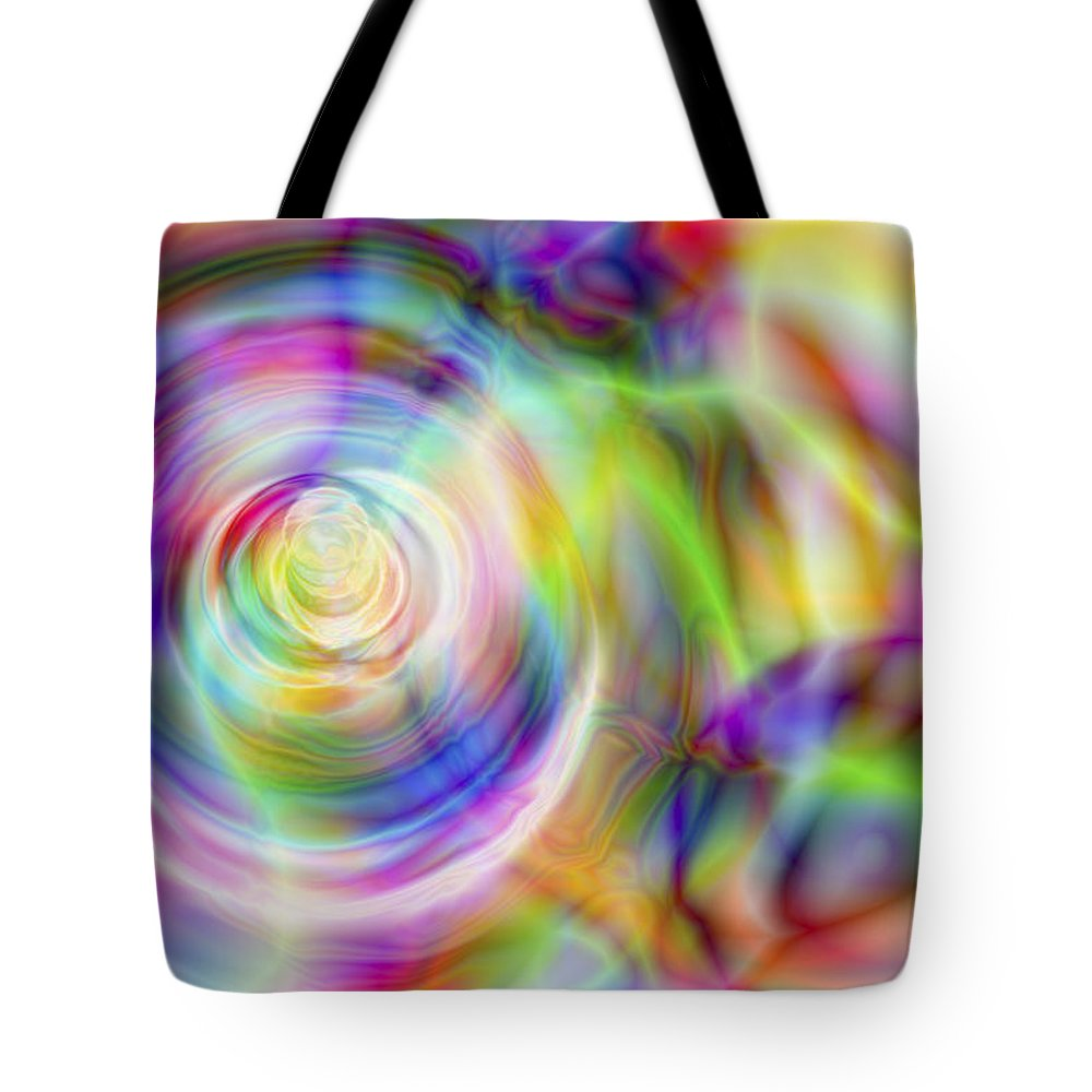 Crazy Tote Bag featuring the digital art Vision 7 by Jacques Raffin