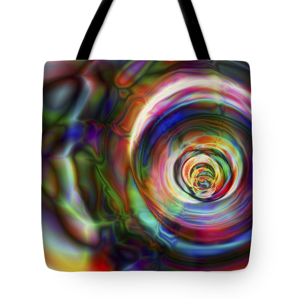 Crazy Tote Bag featuring the digital art Vision 8 by Jacques Raffin