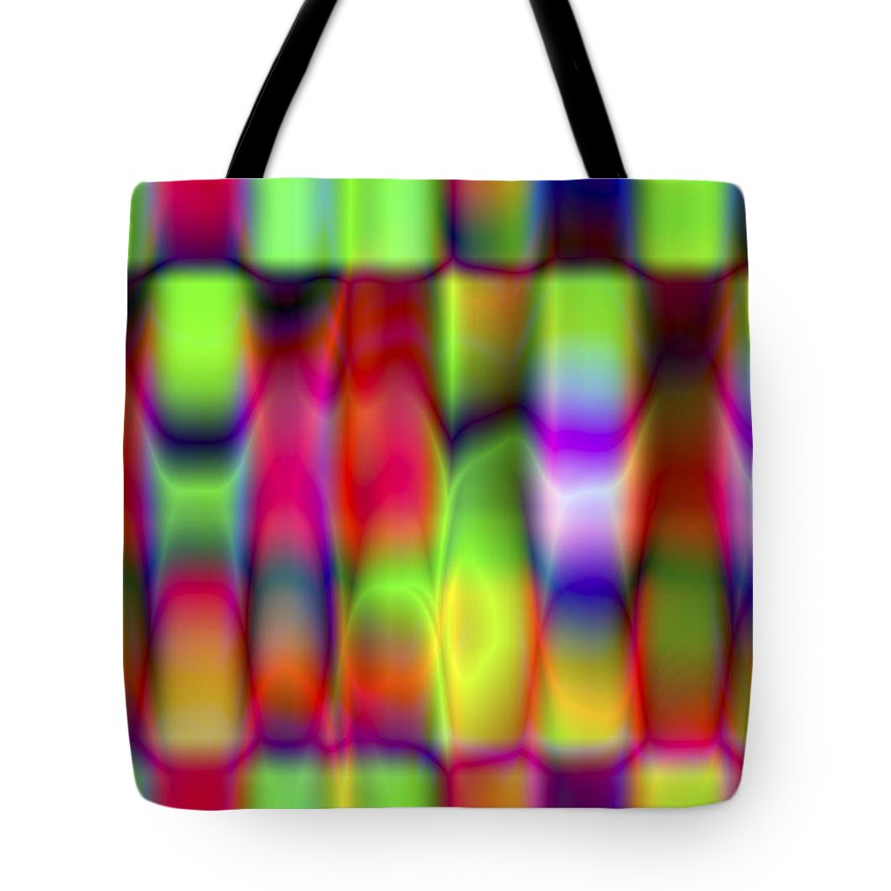 Crazy Tote Bag featuring the digital art Vision 9 by Jacques Raffin