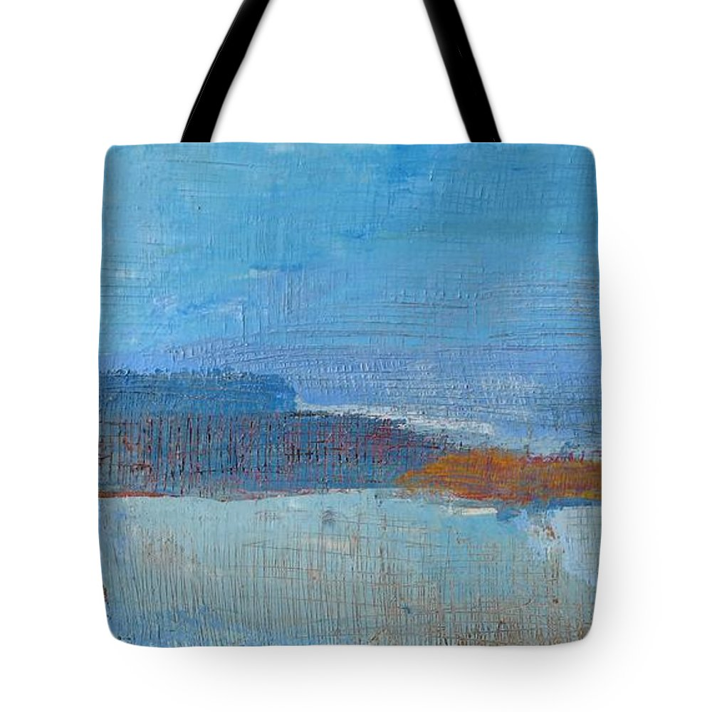 Abstract Tote Bag featuring the painting Vision by Habib Ayat