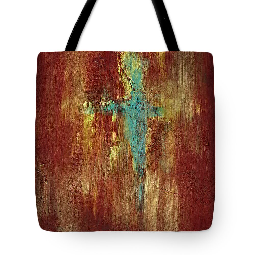 Abstract Tote Bag featuring the painting Vision Quest by Tara Moorman