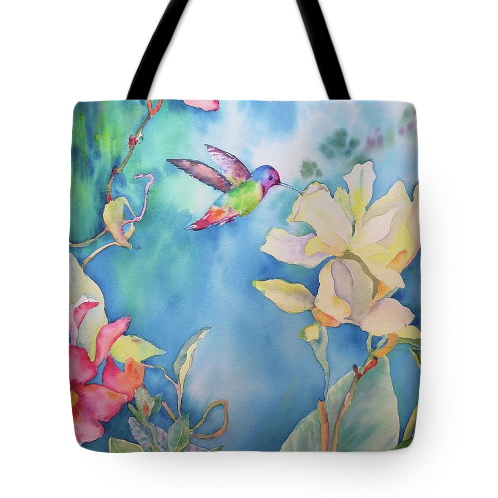 Painting Tote Bag featuring the painting Visitation by Bonny Lundy