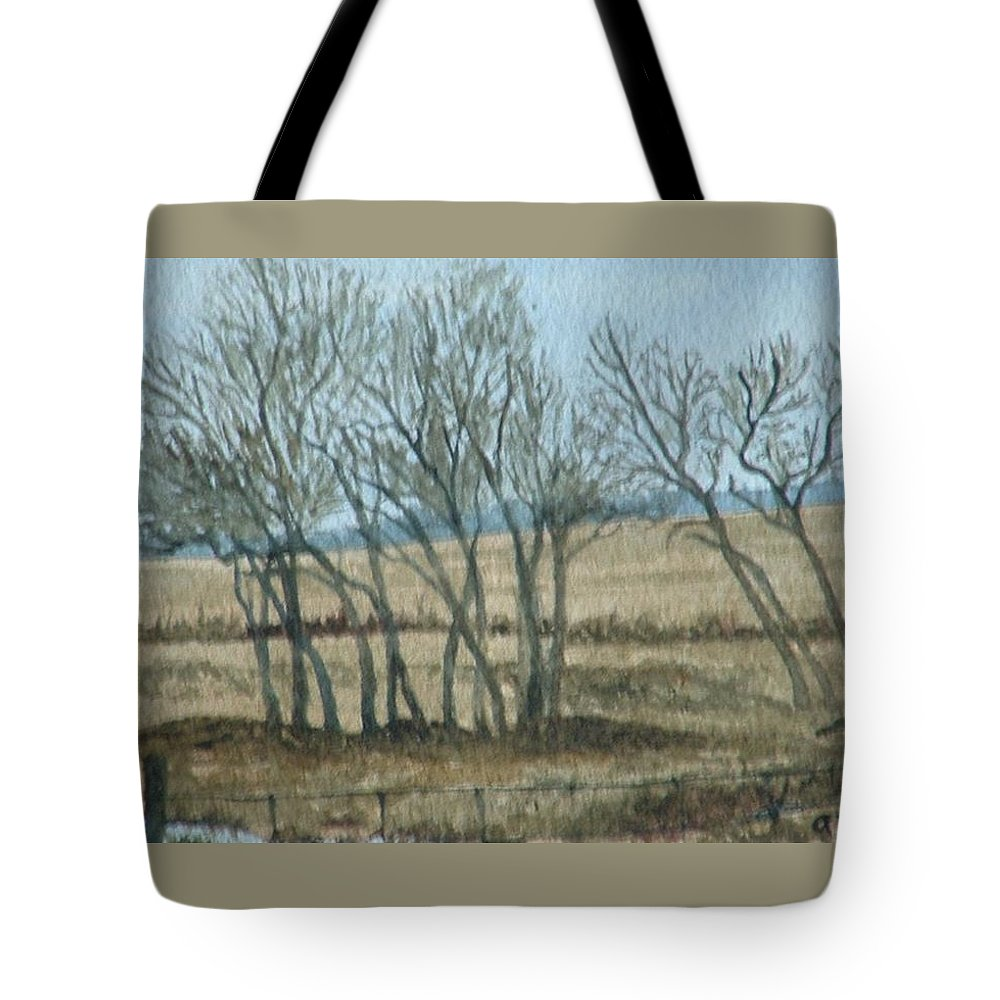 Landscape Tote Bag featuring the painting Visitors by Lynn ACourt