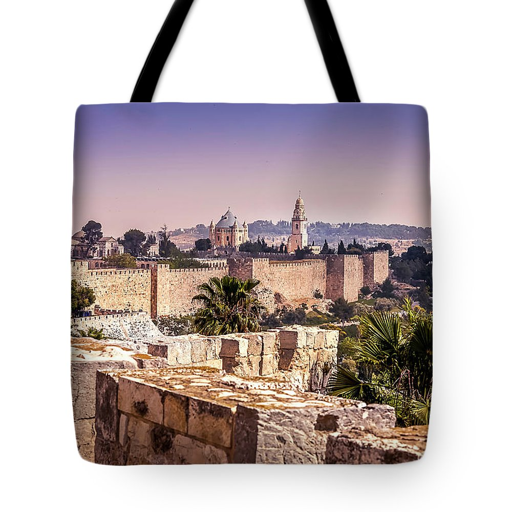 Endre Tote Bag featuring the photograph Vista From The Parapet by Endre Balogh