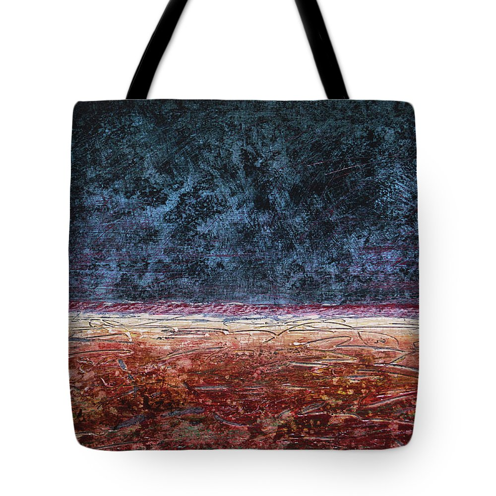 Painting Tote Bag featuring the painting Vista by Jean-luc Lacroix