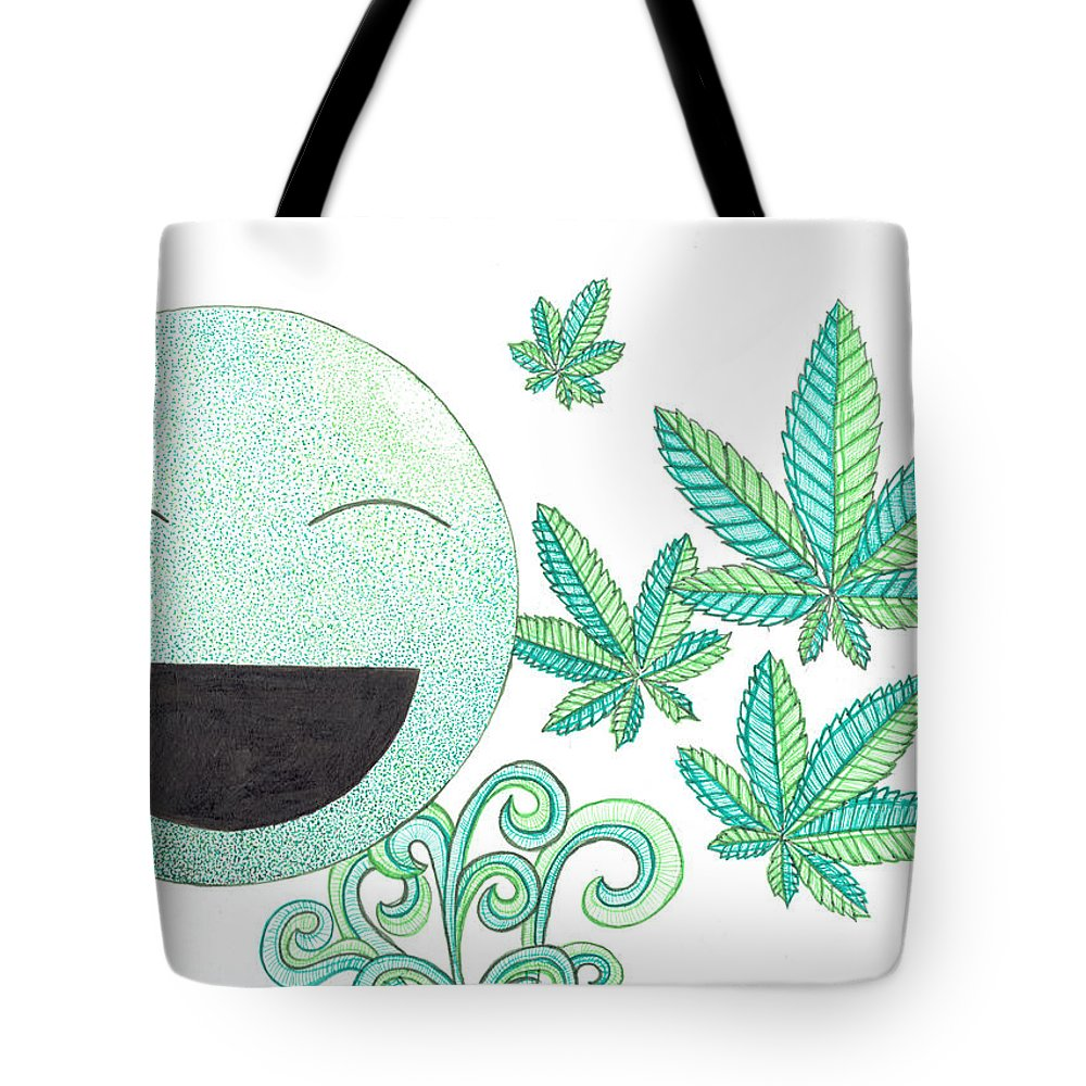 Weed Tote Bag featuring the mixed media Vitamin K by Kitty Perkins