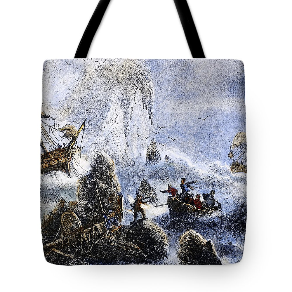 1741 Tote Bag featuring the photograph Vitus Jonassen Bering by Granger