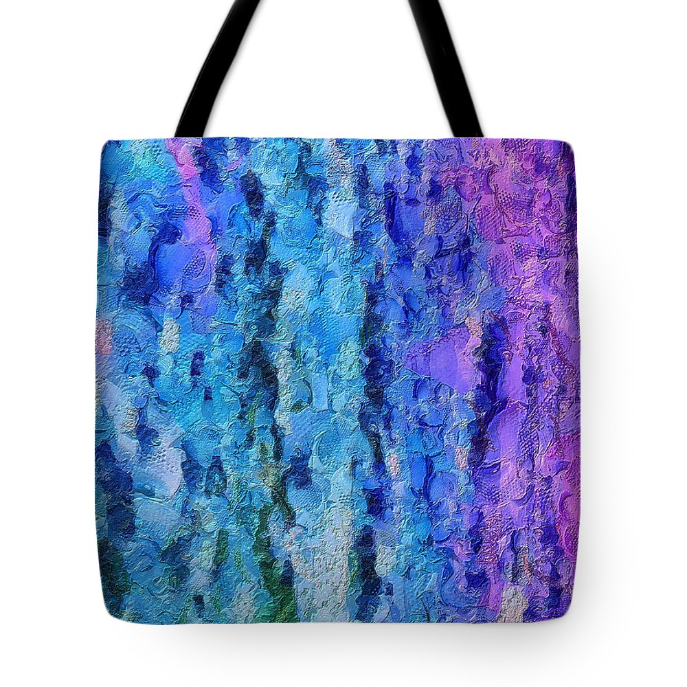 Abstract Tote Bag featuring the photograph Vivid Calm by Krissy Katsimbras