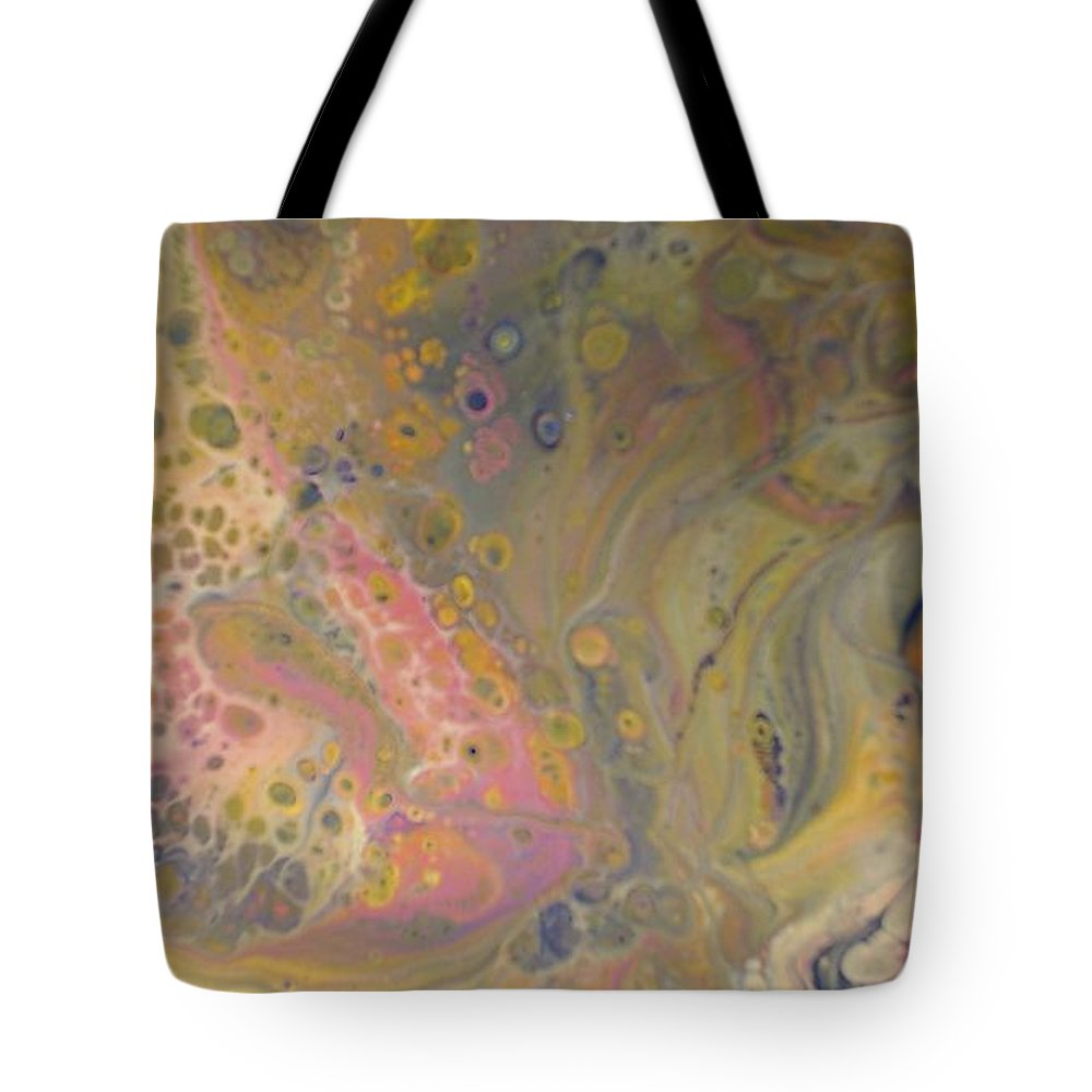 Abstract Tote Bag featuring the painting Vivid Dreams 1 by C Maria Wall