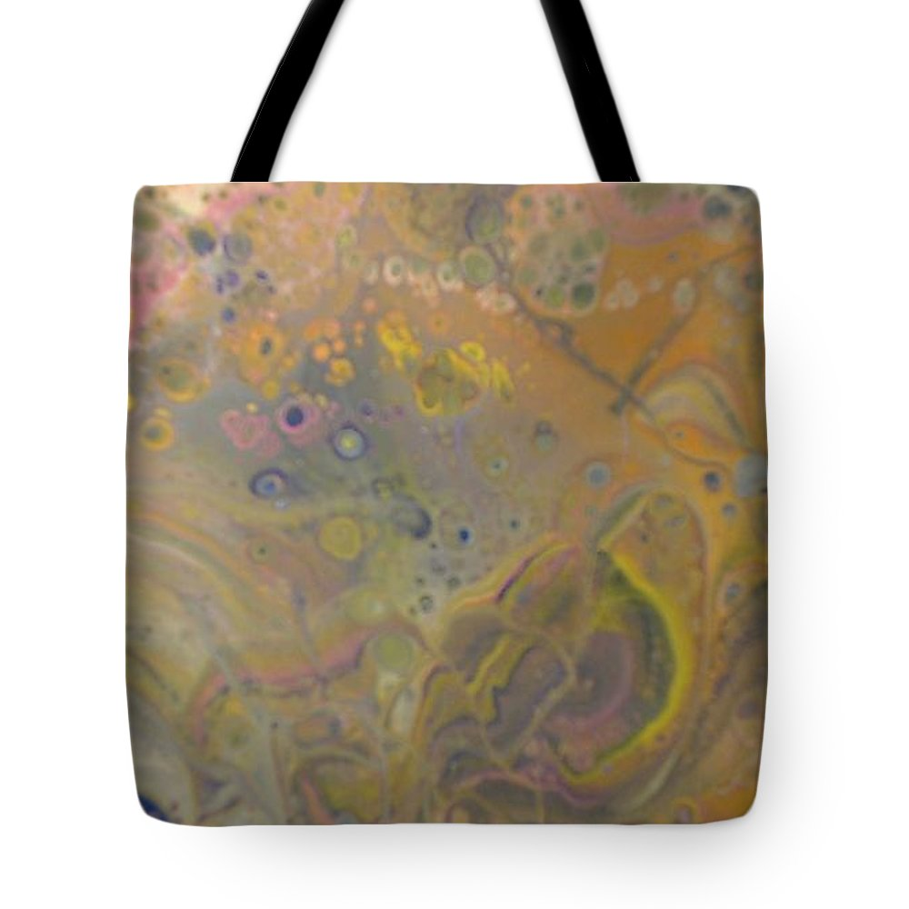 Abstract Tote Bag featuring the painting Vivid Dreams 2 by C Maria Wall