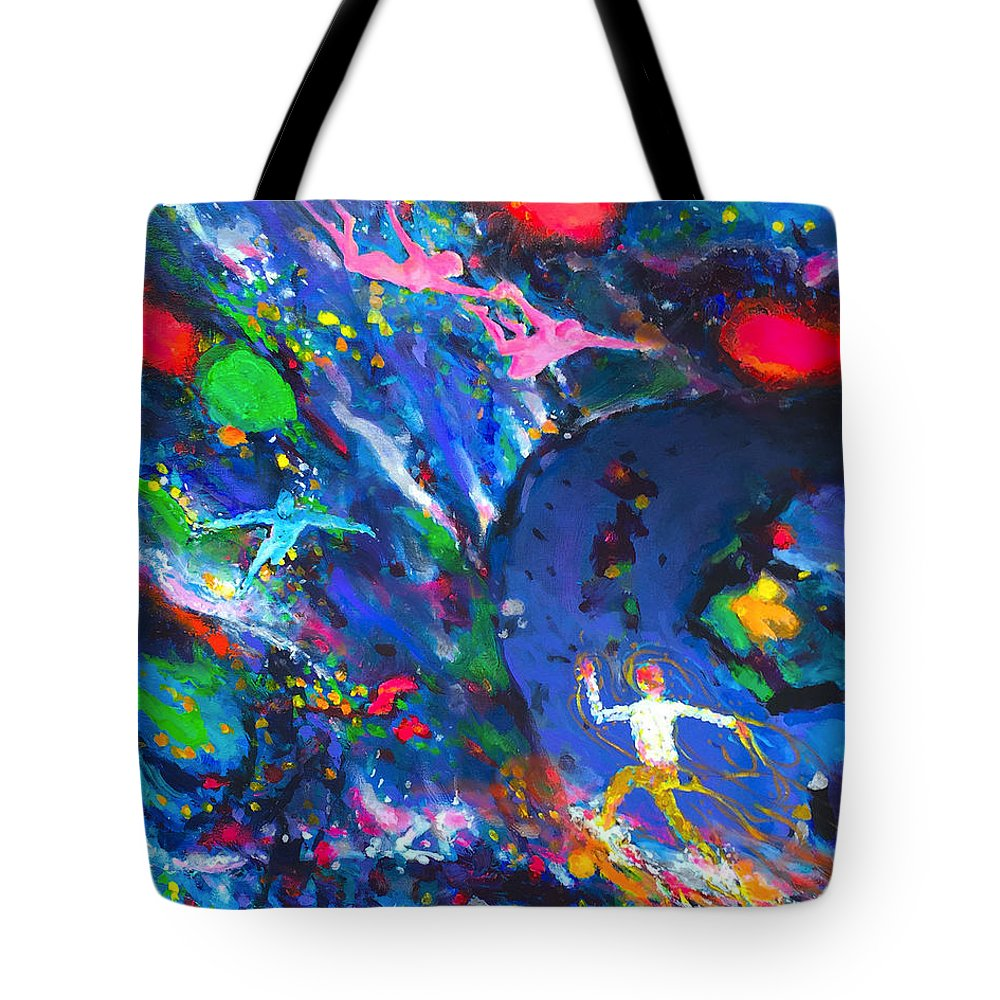 Dreams Tote Bag featuring the painting Vivid Dreams, Racing Brain And Discontent by Charles Wallis