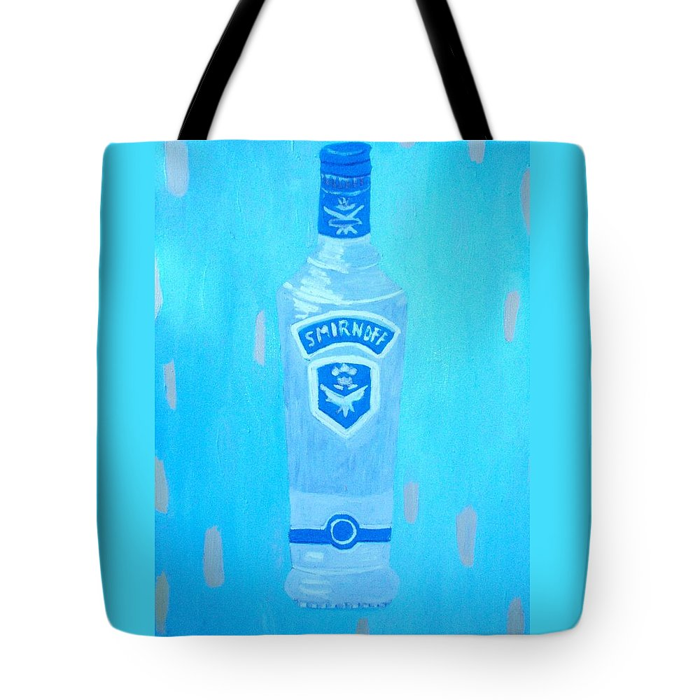 Pop Art Tote Bag featuring the painting Vodka by Patrice Tullai