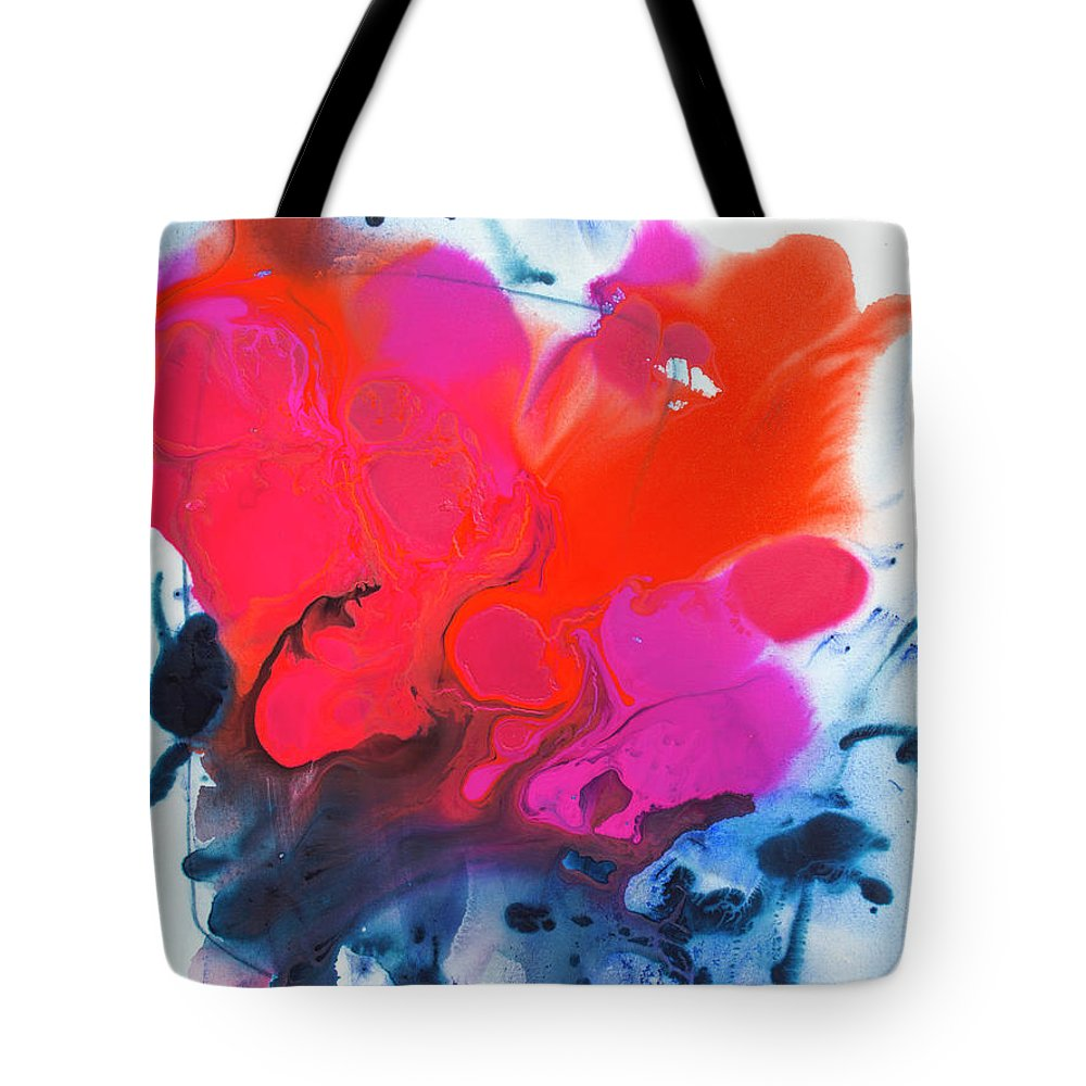 Abstract Tote Bag featuring the painting Voice by Claire Desjardins