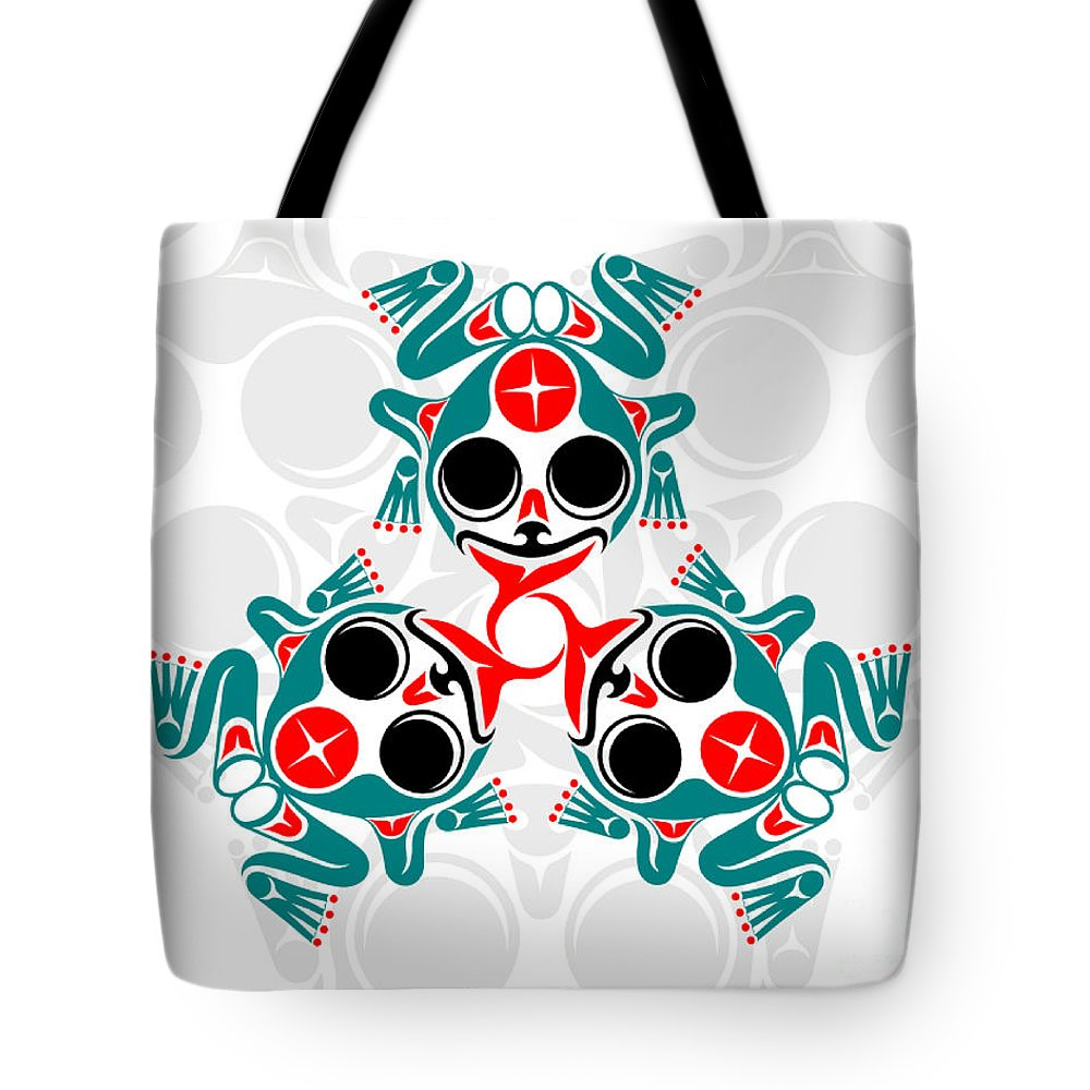 Frogs Tote Bag featuring the digital art Voices Of The People by Lon French