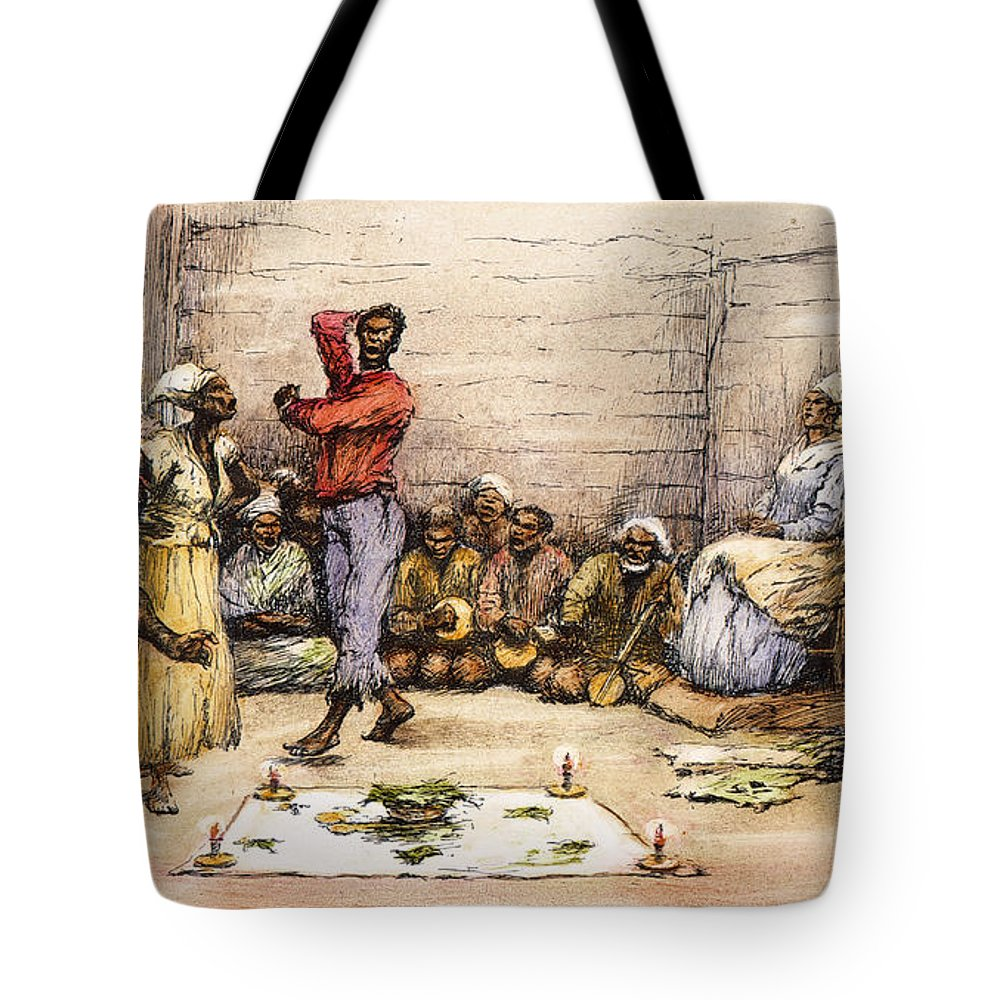 1885 Tote Bag featuring the photograph Voodoo Dance, 1885 by Granger