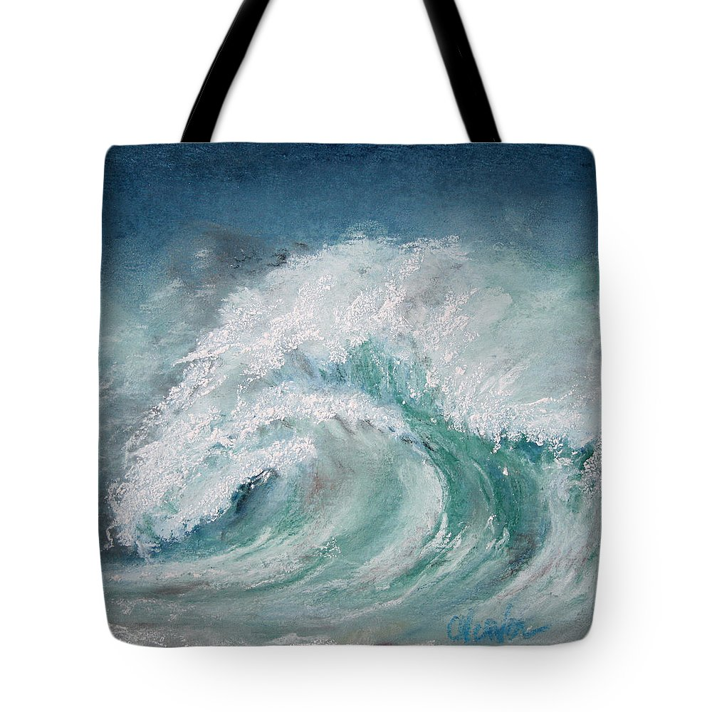 Ocean Tote Bag featuring the painting Vortex by Cathy Weaver
