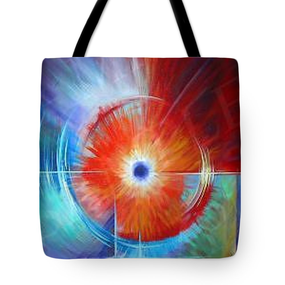 Clouds Tote Bag featuring the painting Vortex by James Christopher Hill