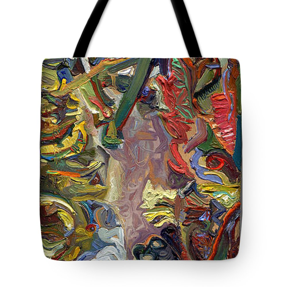 Color Tote Bag featuring the painting Vsp Xv Butter-fly-wing by Juel Grant