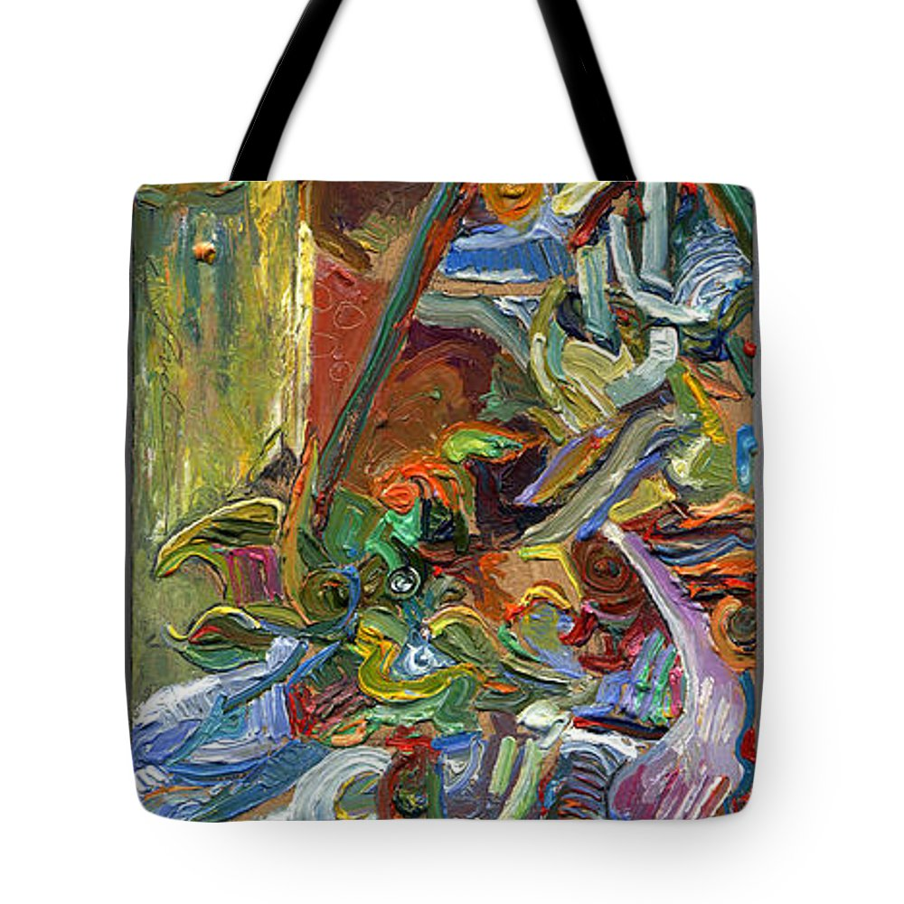 Color Tote Bag featuring the painting Vsp Xvii With Buddha by Juel Grant