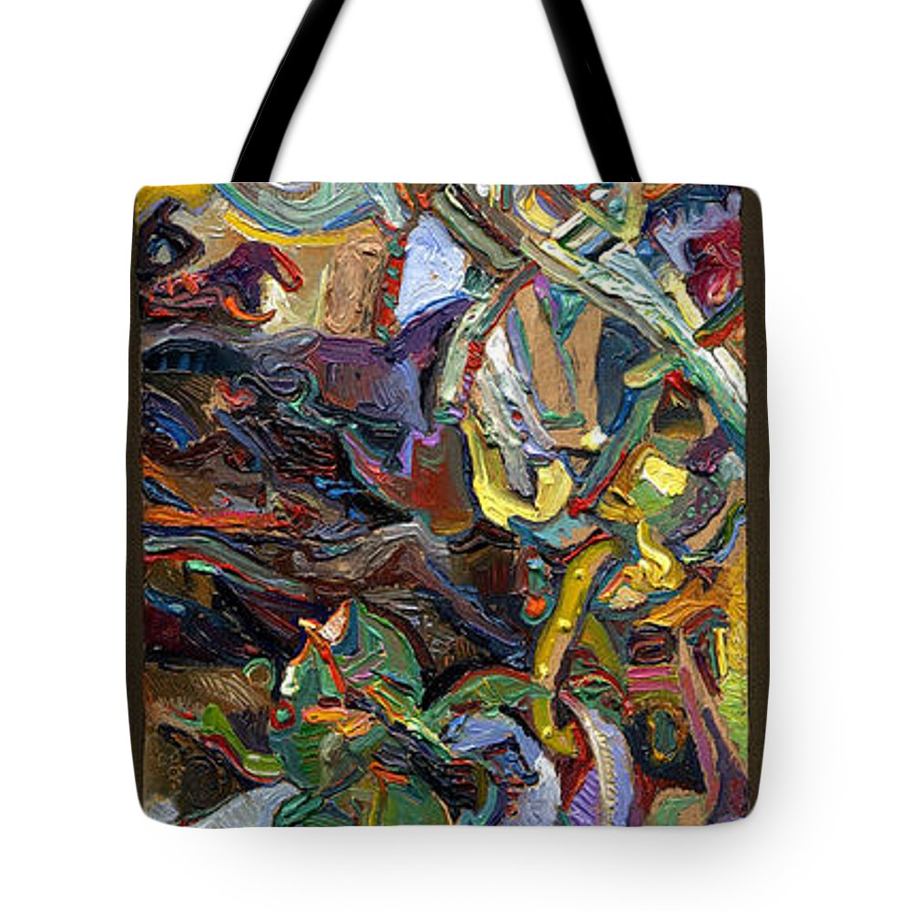 Color Tote Bag featuring the painting Vsp Xviii Buddha by Juel Grant