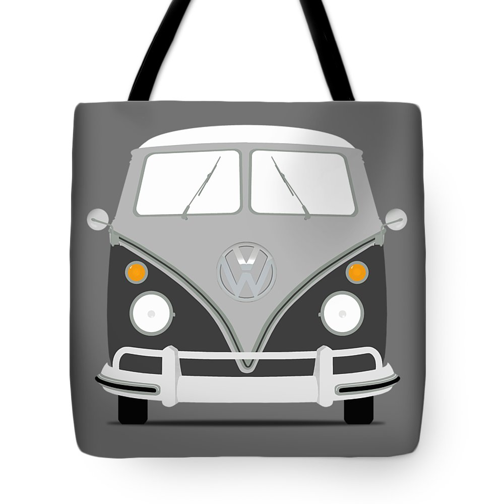 71c52bd4014 Volkswagen Tote Bag featuring the photograph Vw Bus Grey by Mark Rogan