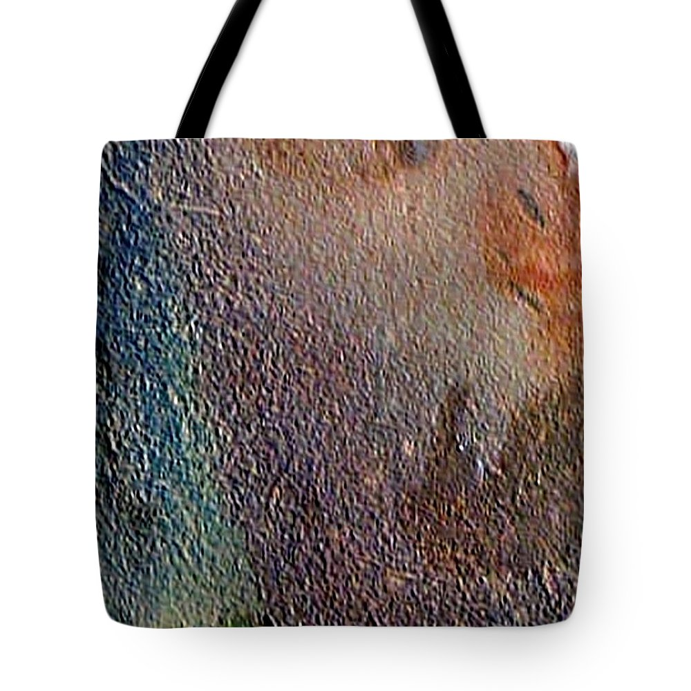 Abstract Landscape Tote Bag featuring the painting W 012 - No One's Land by Dragica Micki Fortuna