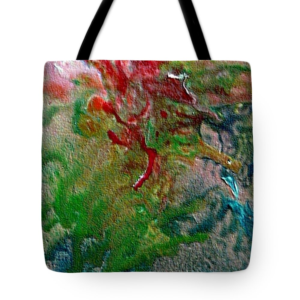 Abstract Tote Bag featuring the painting W 024 by Dragica Micki Fortuna
