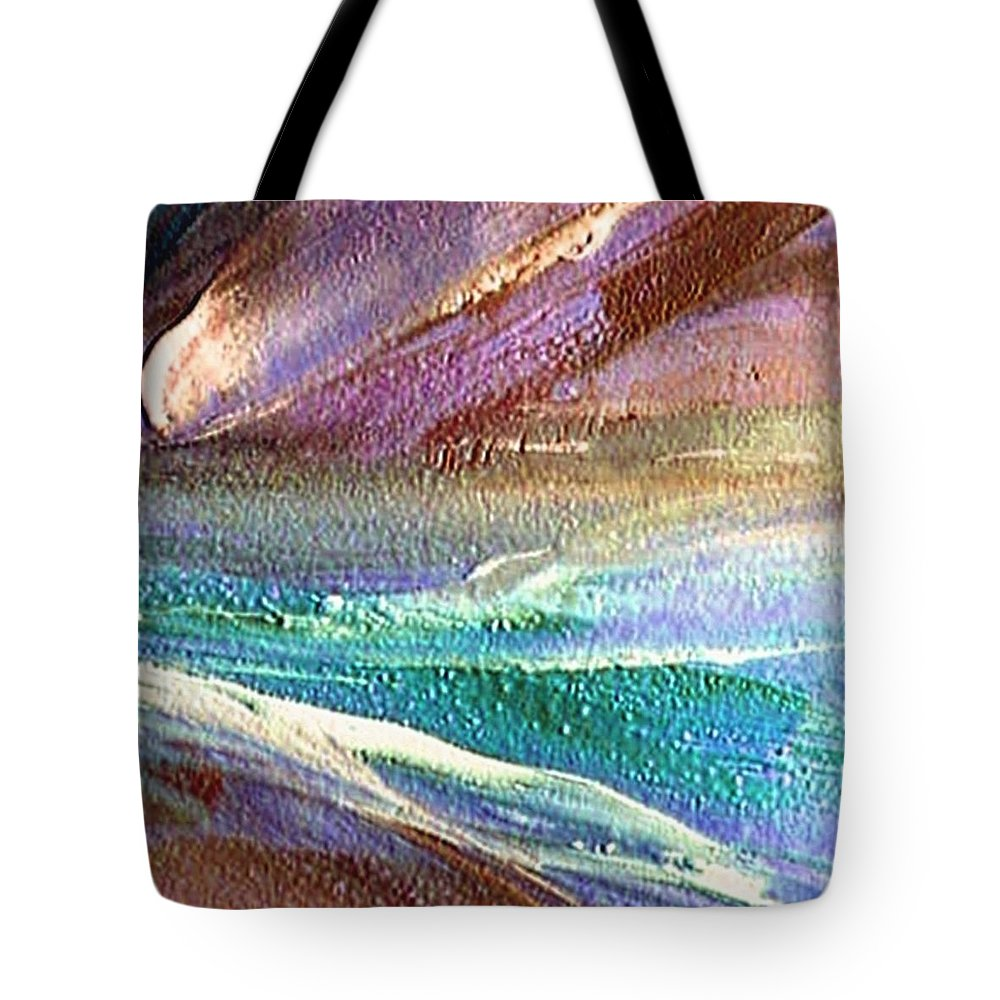 Comet Tote Bag featuring the painting W 034-comet by Dragica Micki Fortuna